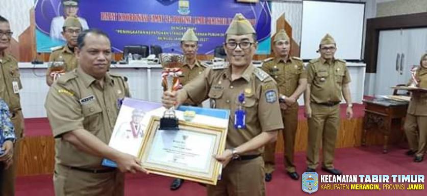Camat Tabir Timur Sukses Raih Peringakat II Camat Teladan/Berprestasi Tingkat Provinsi...