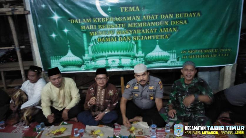 Wakili Camat, Sekcam Hadiri Peringati Hari Besar Islam ke-1441 H di Bukit Subur-Tabir...