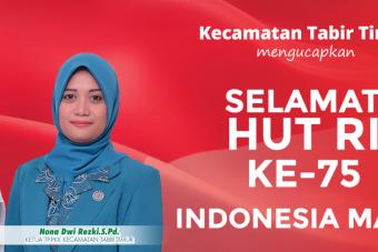 Selamat HUT ke-75 Republik Indonesia