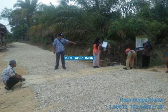 Pembuatan Plat Deker Jalan Parkit II Tahap I Desa Sungai Bulian
