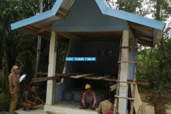Pembangunan Pos Kamling Dusun Lebak Bento Tahap II Desa Sungai Limau