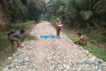 Pengerasan Jalan Dusun Rantau Tenang  Tahap II Desa Sungai Limau