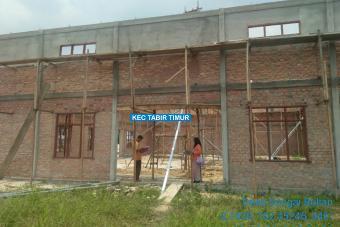Pembangunan Gedung Olahraga 60% Tahap II Desa Sungai Bulian
