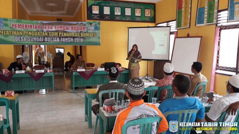 Pelatihan Penguatan SDM Pengurus Bumdes Desa Sungai Bulian
